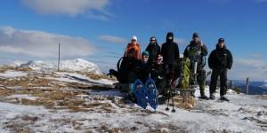 Zimní přechod Schneealpe na sněžnicích (22.2.-23.2.2014)